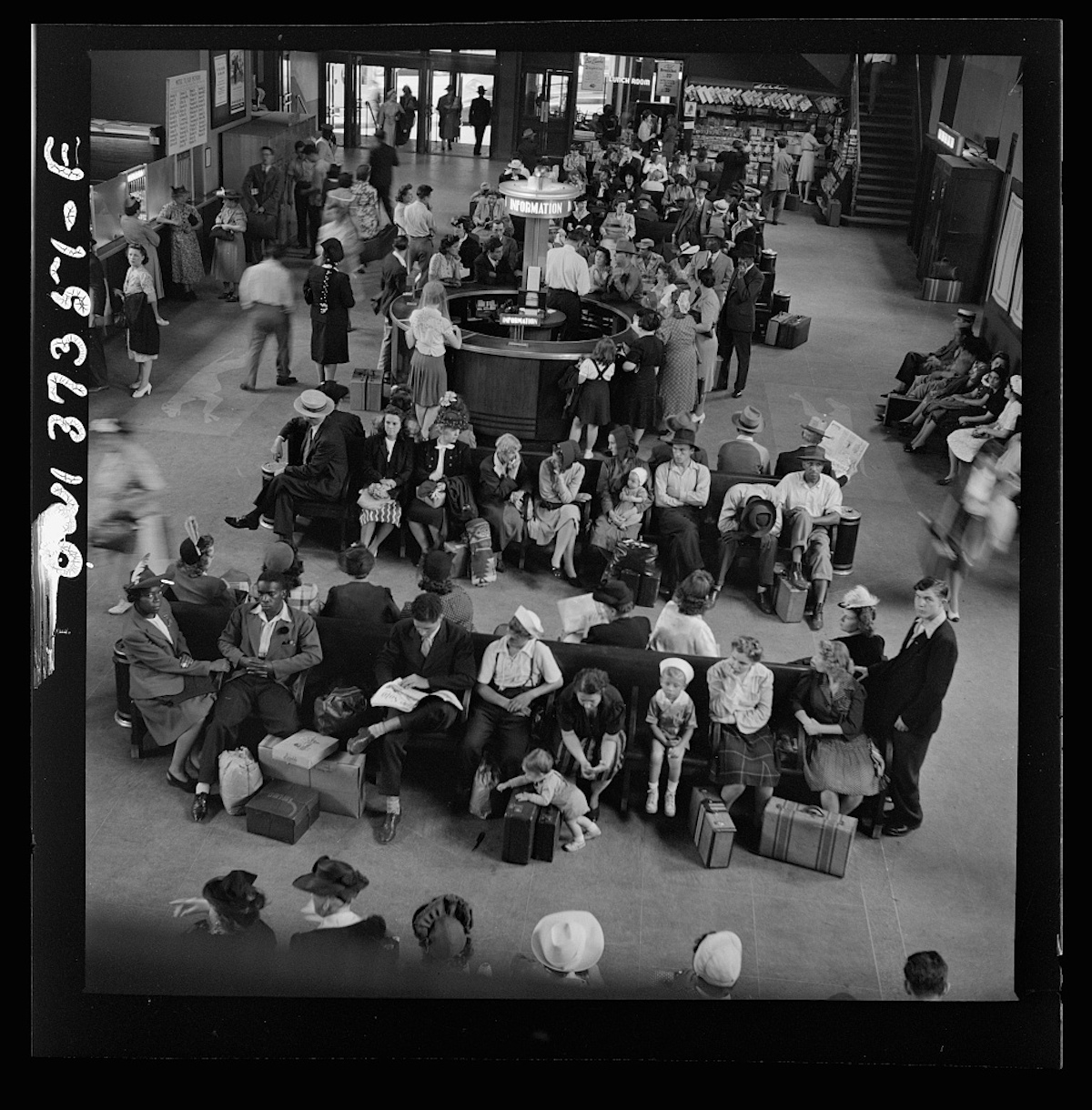 Pittsburgh, Pennsylvania. The waiting room at the Greyhound bus terminal