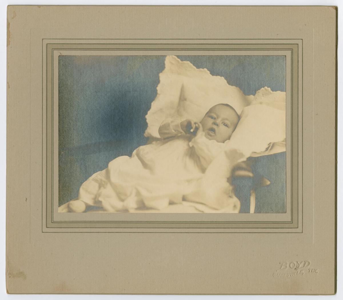 Photograph of Charles Williams as a baby. DATE: 1888/1889 CREATOR: Boyd, Frank