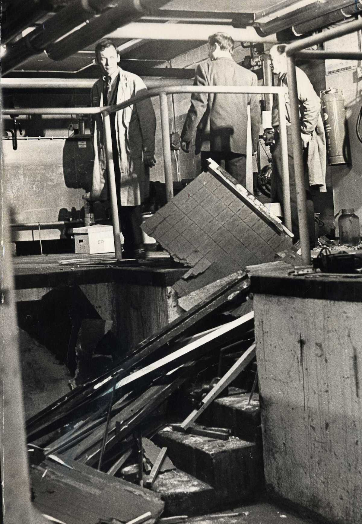 Bomb Damage In The Ford Motor Company Office In Gants Hill. The Angry Brigade Launched A String Of Bombing Attacks Against The Heart Of The British Establishment In The Seventies. 19 Mar 1971