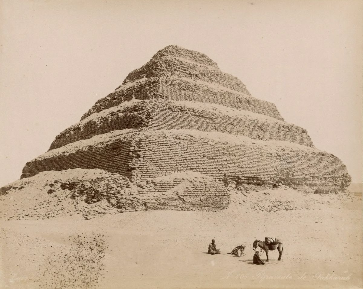 Pyramid of Djoser at Saqqar.