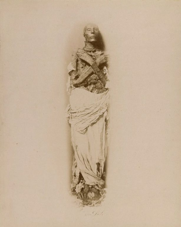 The mummy of Seti I, who reigned around 1290-1279 BCE.