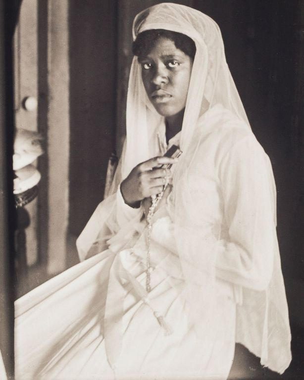 c. 1908 Portrait of Woman in Confirmation Attire.