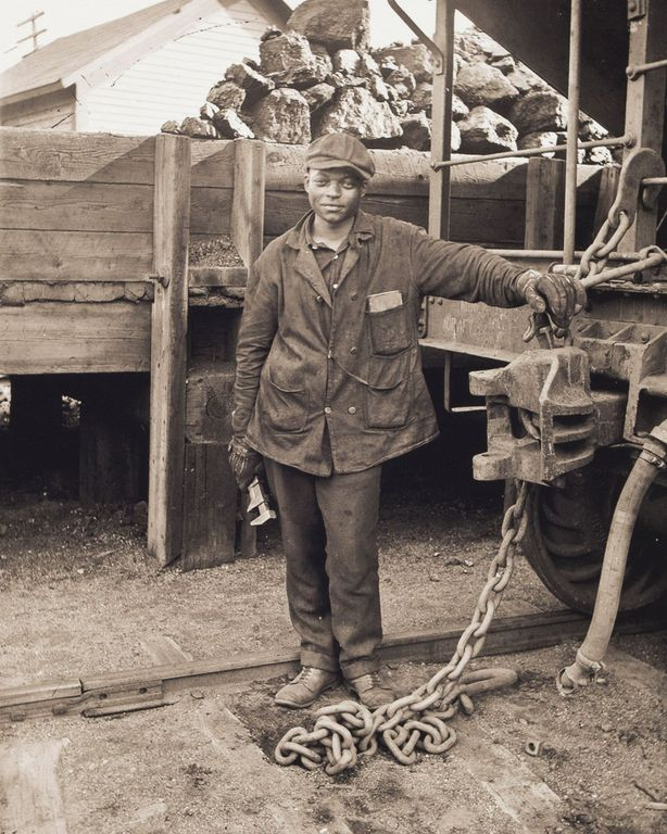 c. 1916 Portrait of Thomas Doughton, Jr., Working on the Railroad.