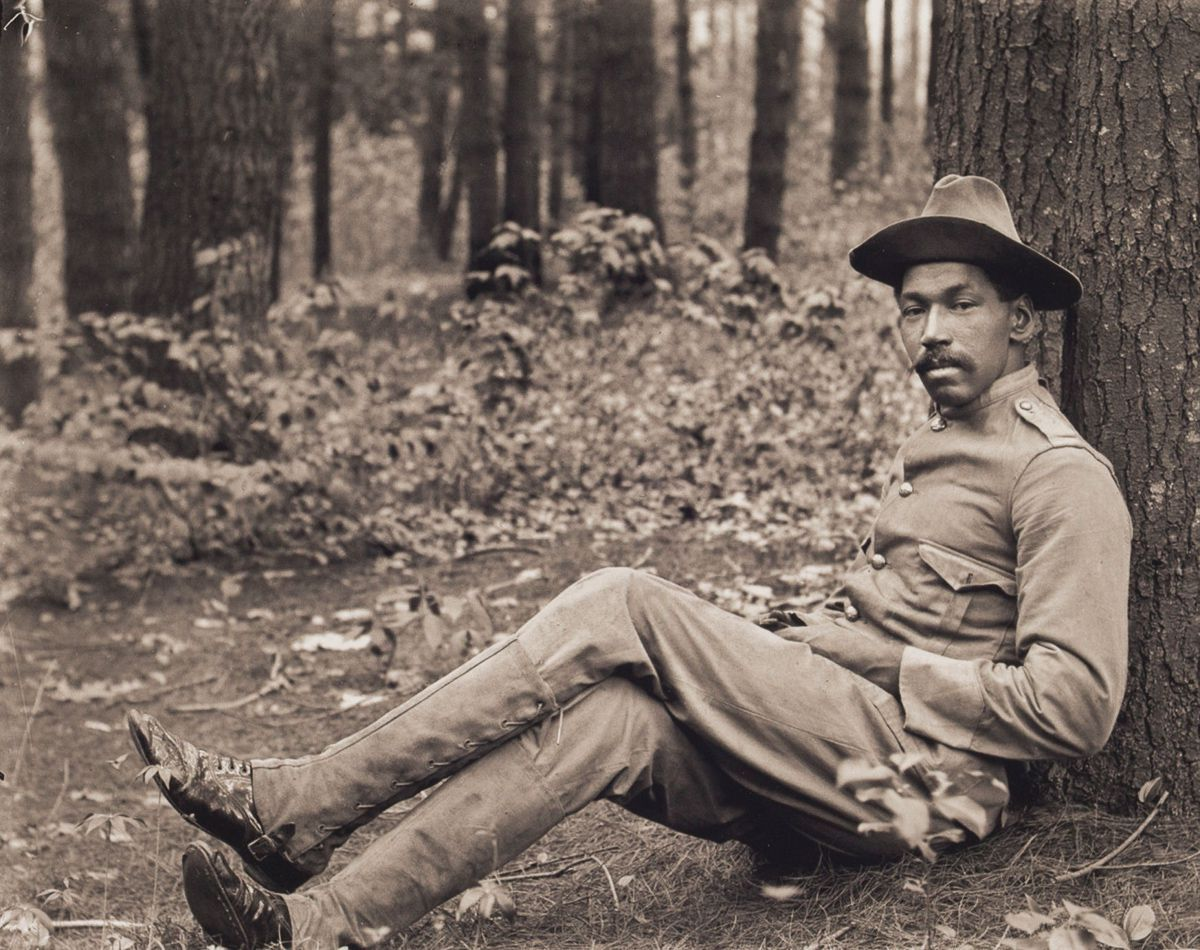 1901 Portrait of Reuben Griffin Seated against a Tree.