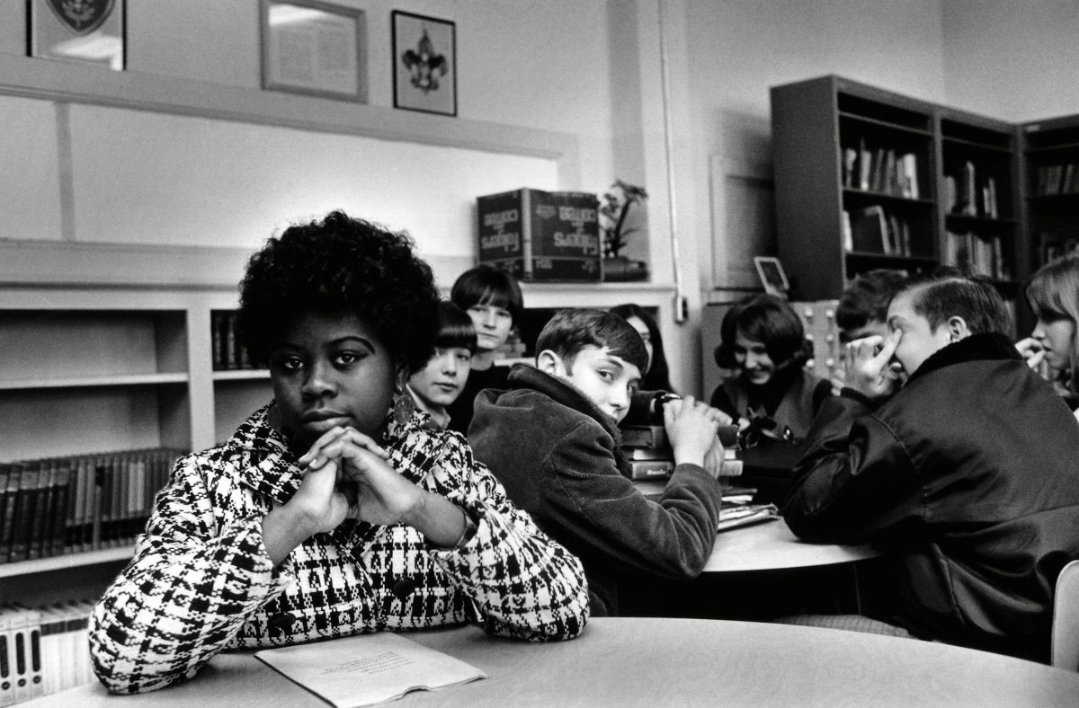 Linda Brown Smith. Smith was a third grader when her father started a class-action suit in 1951 of the Brown v. Board of Education of Topeka, Kansas, which led to the U.S. Supreme Court's 1954 landmark decision against school segregation. Saturday marks the 60th anniversary of the landmark Brown v. Board of Education decision. Many inequities in education still exist for black students and for Hispanics, a population that has grown exponentially since the 1954 ruling School Segregation 5 Things
