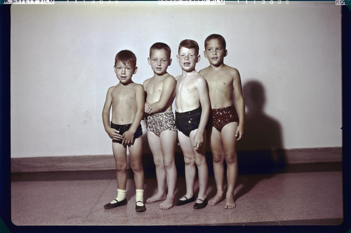 Williams, Byrd M. (Byrd Moore), III. [Dance school boys], photograph, 1948
