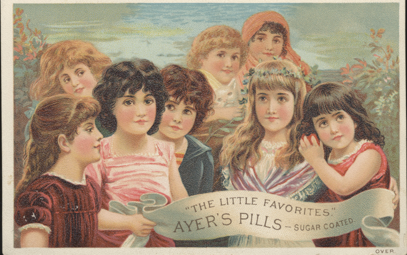 Victorian trade cards Ayer's Pills