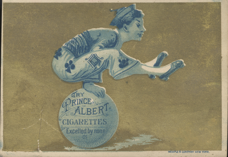 victorian trade cards prince albert cigarettes
