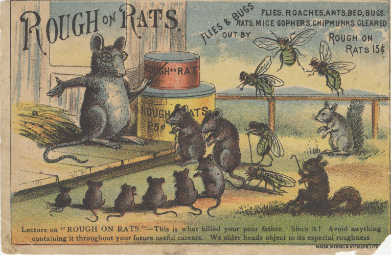 Victorian trade cards Rough on rats