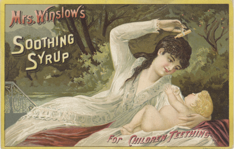 victorian trade cards mrs winslow soothing syrup