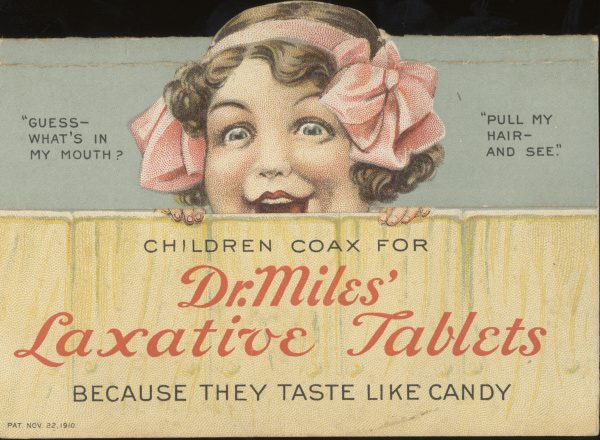 victorian trade cards dr miles laxative tablets