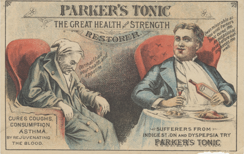 victorian trade cards Parker's tonic