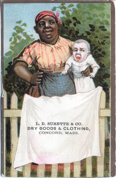 victorian trade cards tobacco LD Surett and co Concord Mass