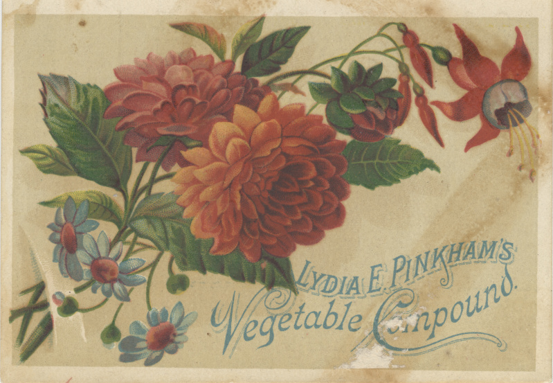 victorian trade cards tobacco Lydia Pinkhams compound