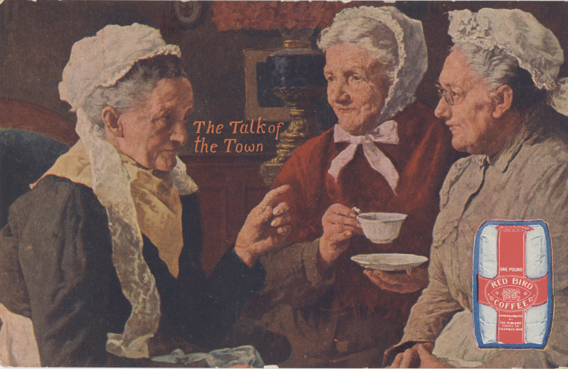victorian trade cards Red Bird coffee