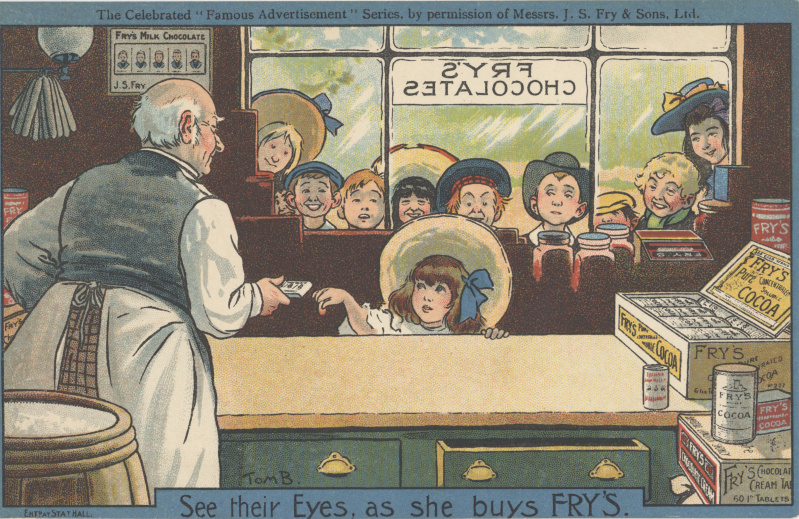 victorian trade cards Fry's chocolate