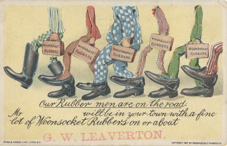 victorian trade cards gw leaverton rubbers