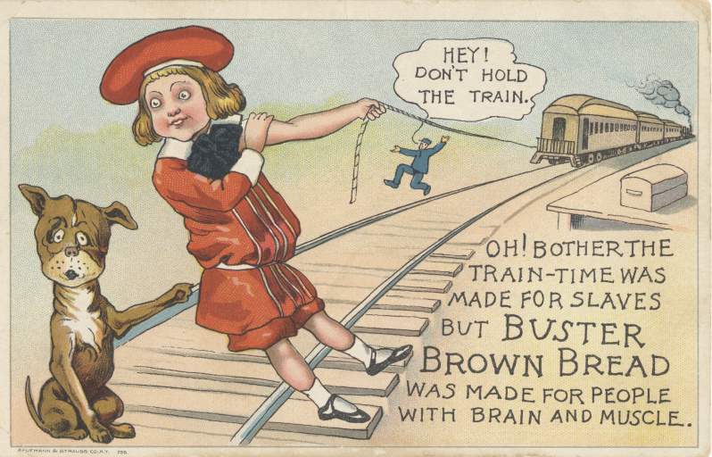 victorian trade cards buster brown bread