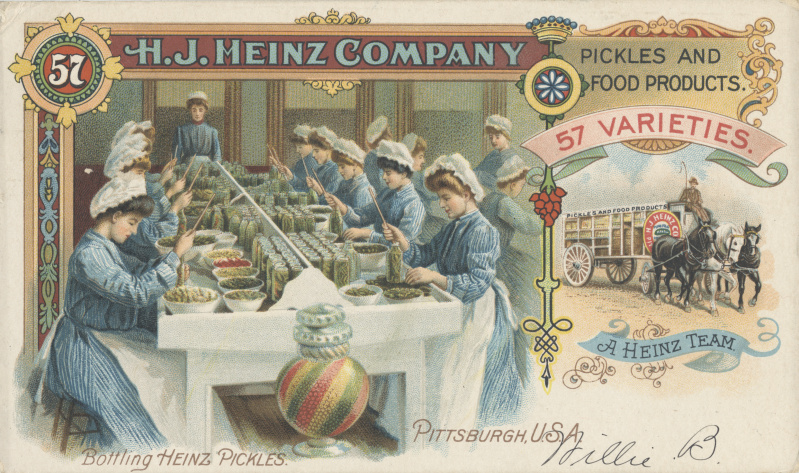Victorian trade cards HJ Heinz Pittsburgh