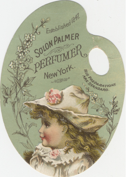 Victorian trade cards salon palmer new york perfume