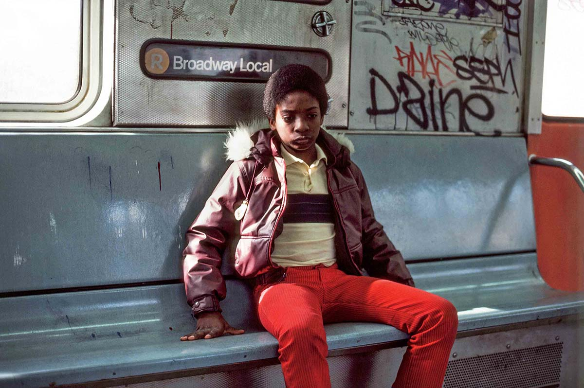 Young Man on the Train, Astoria, NY, 1985