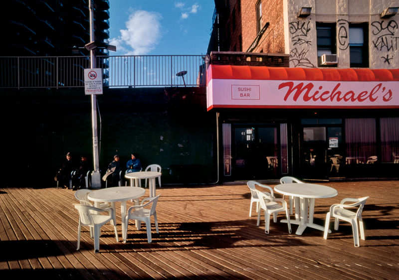 New York city 1980s Robert Herman Kodachrome