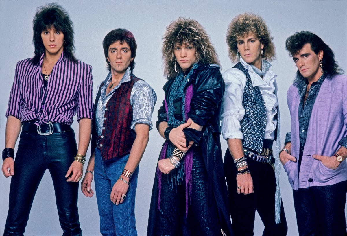 Bon Jovi outtake from the 7800° Fahrenheit press photo shoot, April 1985