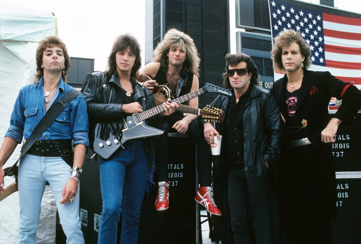 Bon Jovi at Farm Aid, Champaign, Illinois, September 22, 1985
