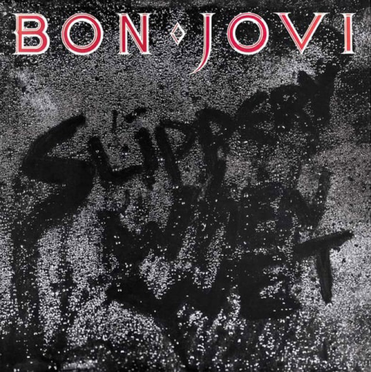 Bon Jovi Slippery When Wet album cover, 1986
