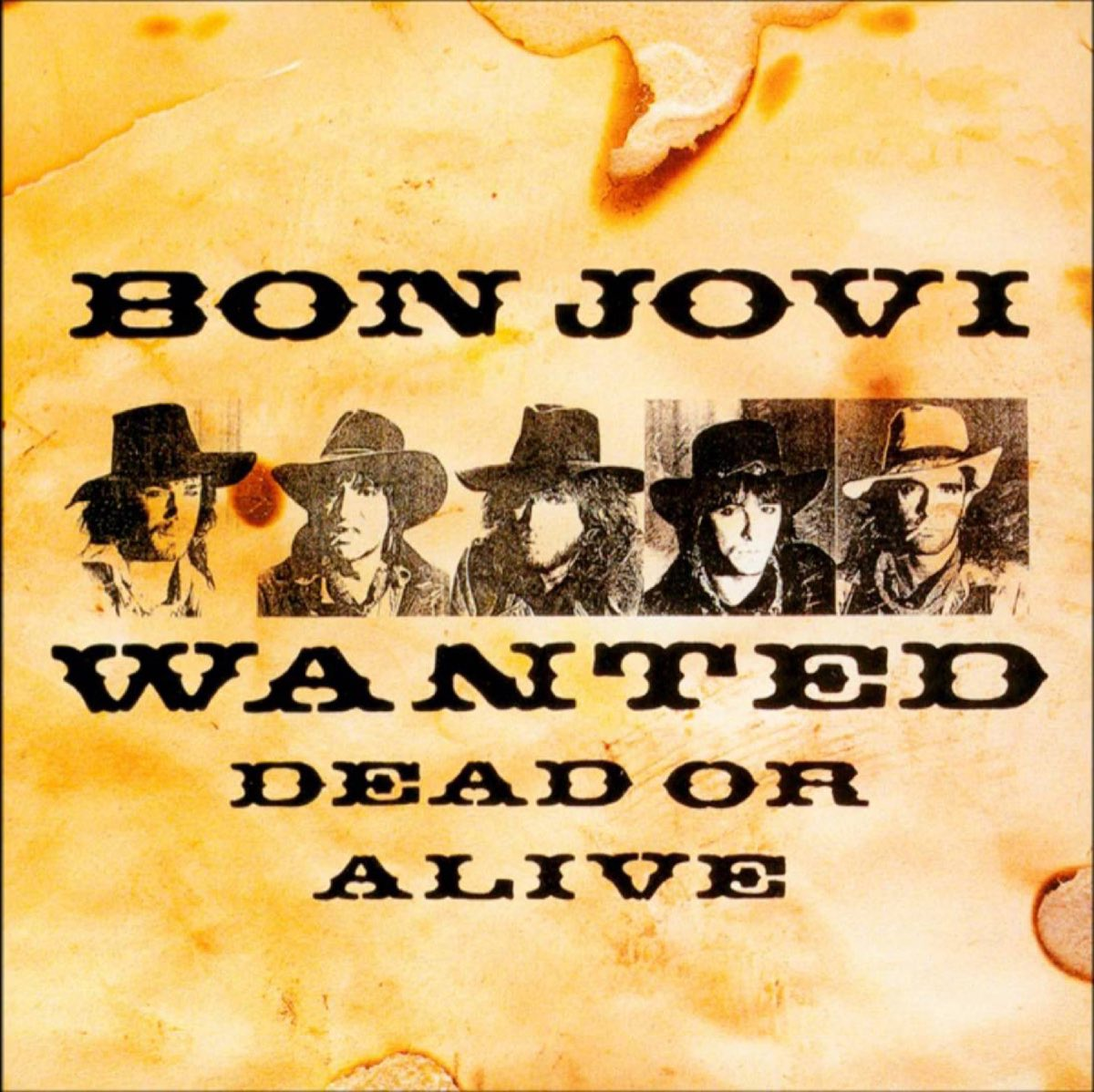 Bon Jovi's Wanted Dead or Alive 12 inch single sleeve, 1986