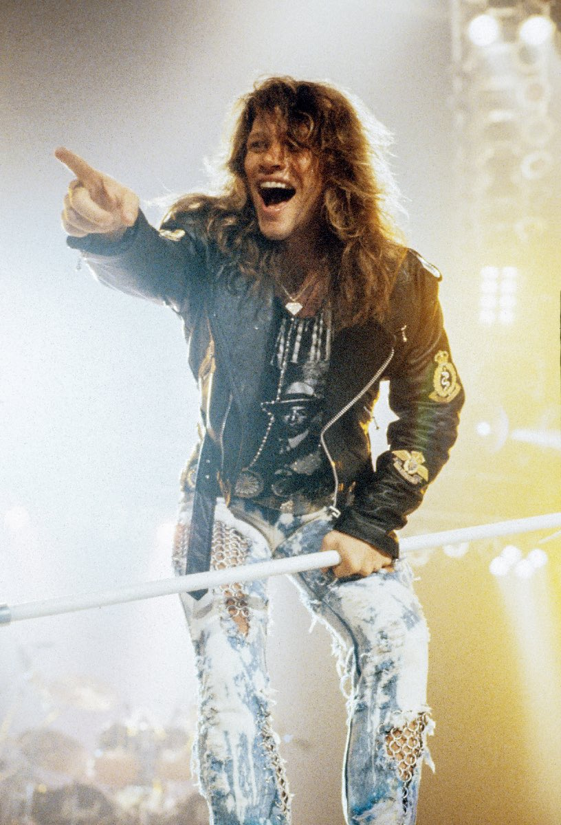 "Jon Bon Jovi, ""Bad Medicine"" video shoot"