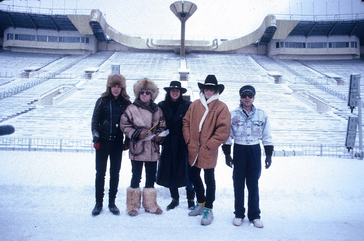 Bon Jovi in Moscow, Russia in December 1988
