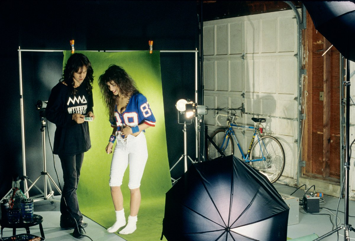 Mark and model at New York Giants Stadium, East Rutherford, NJ June 11, 1989