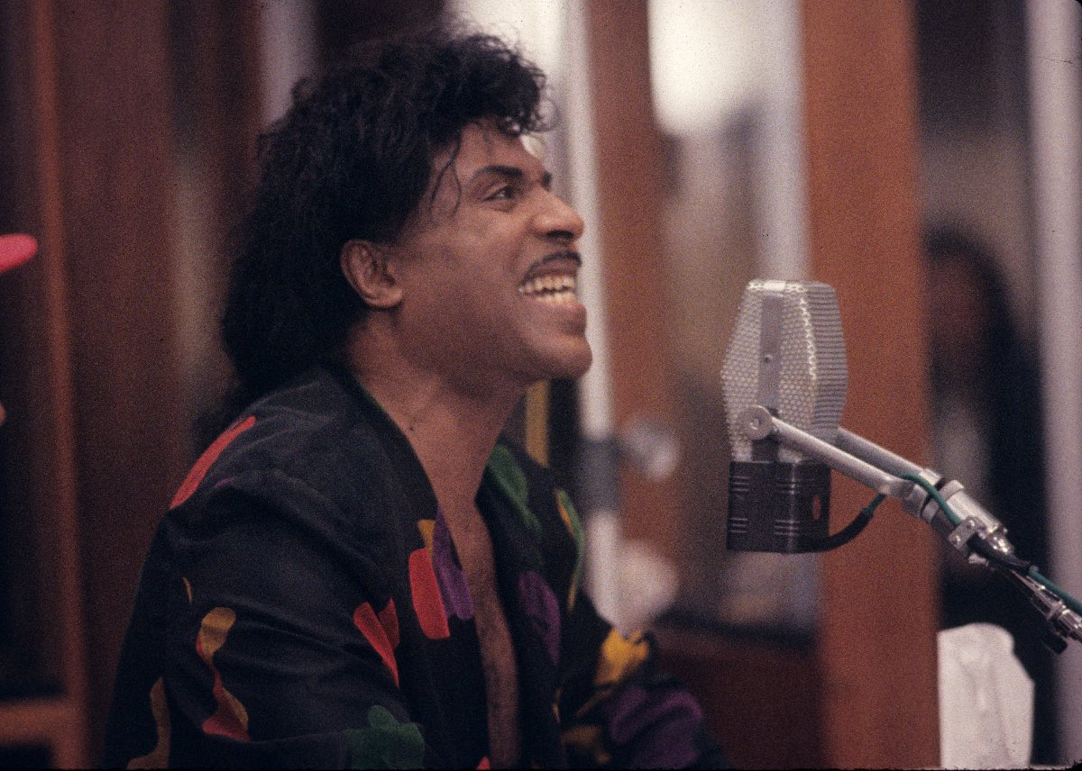 Little Richard recording the album Blaze of Glory, Los Angeles, CA, May 1990