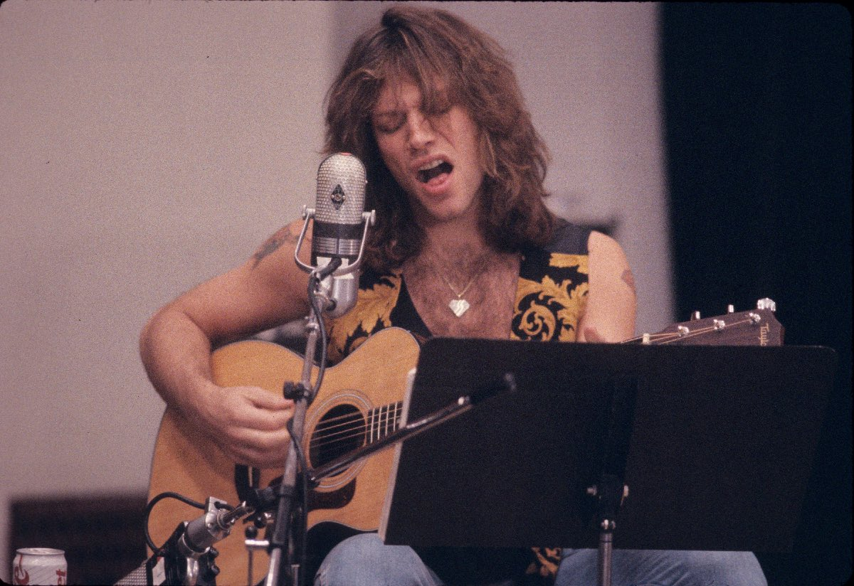 Jon Bon Jovi recording the album Blaze of Glory, Los Angeles, CA, May 1990