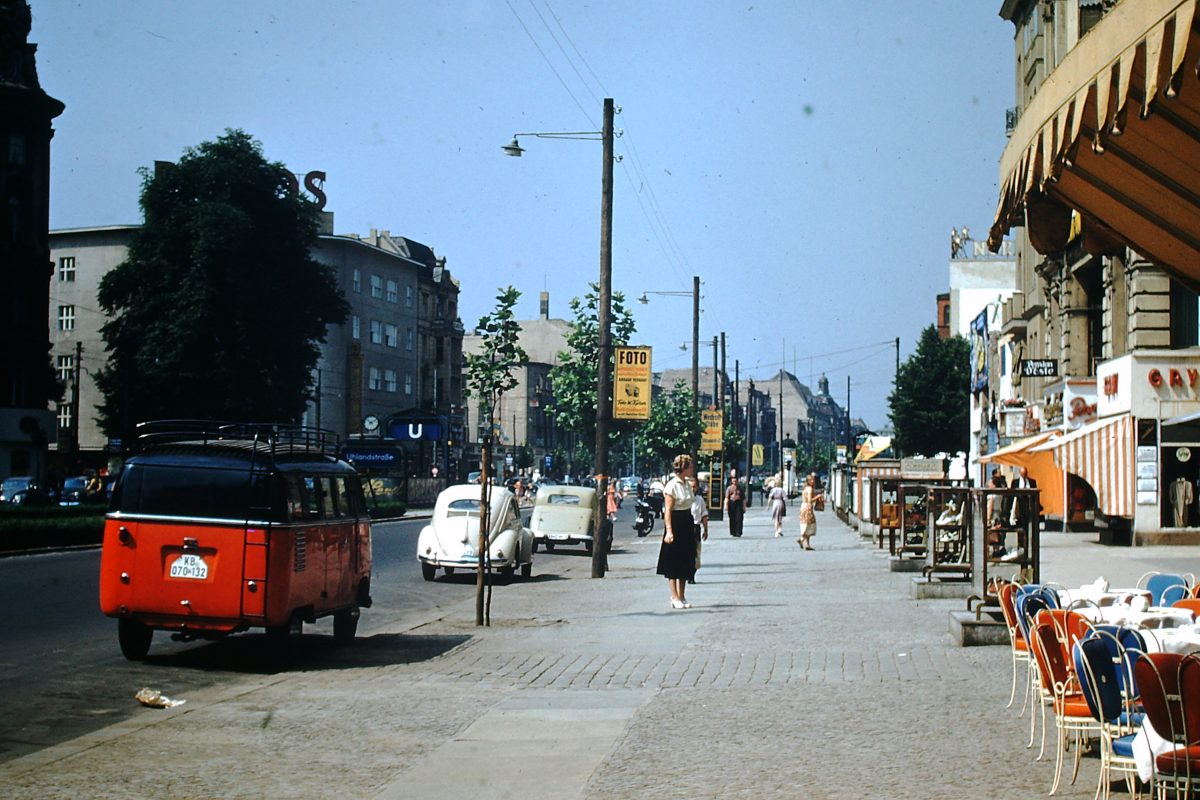West Germany In Kodachrome 7-3-1953- Kurfurstendam- Berlin- Germany