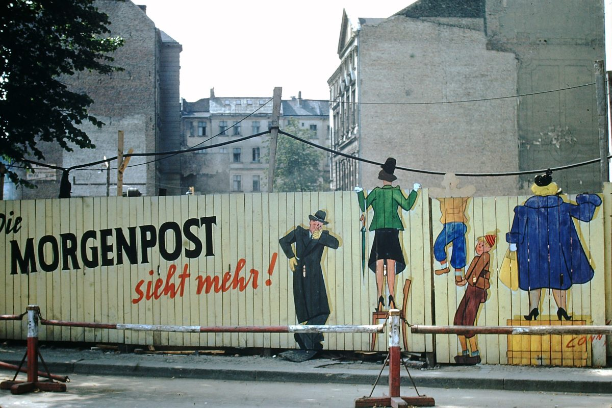 West Germany In Kodachrome 7-3-1953- Construction in Berlin- Germany