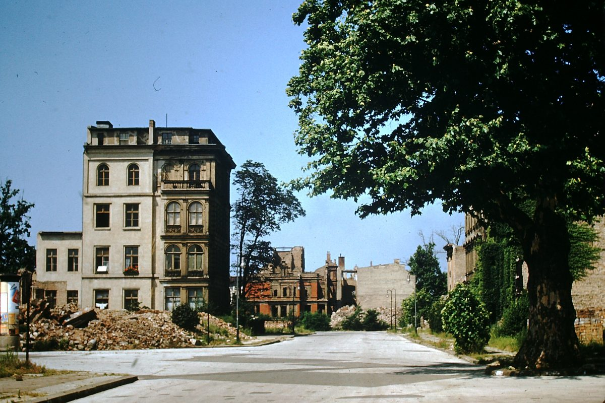 West Germany In Kodachrome7-2-1953- Apt Bldgs destroyed nr Potsdamerplatz- Berlin- Germany