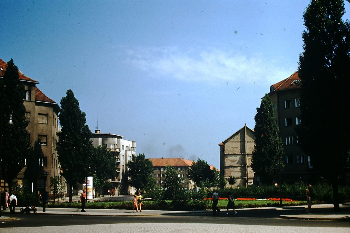West Germany In Kodachrome7-2-1953- Apt Houses Berlin- Germany