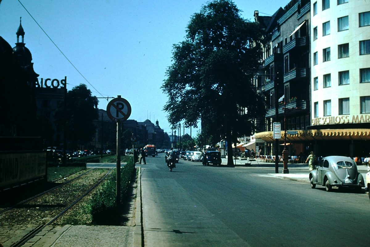 West Germany In Kodachrome1953- Kuefurstendam Strasses- Berlin- Germany
