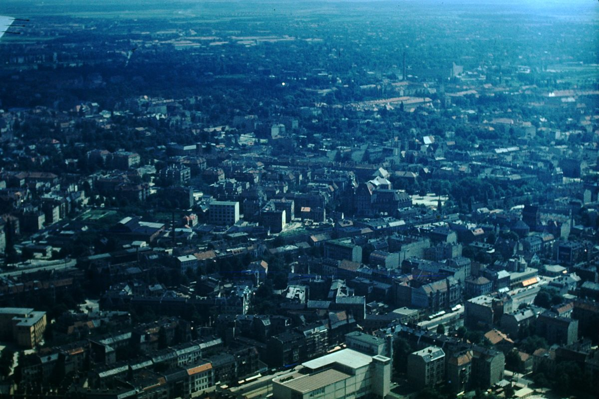 West Germany Kodachrome1953- Berlin from Plane- Germany