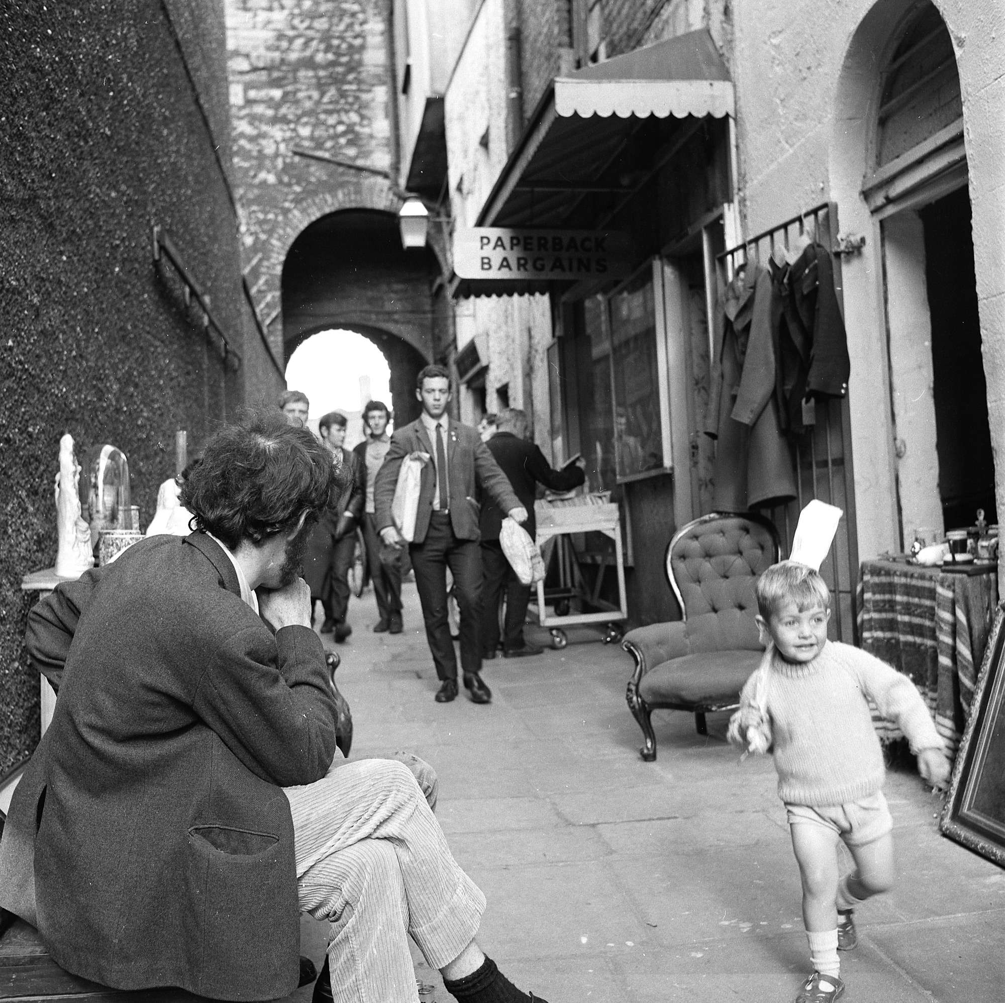 "Dublin, Ireland 1960s ""Cheers my name is Colm Irwin and I was about 3. It was strange how I came across the image it was in the evening had just looked at sky news and for some unknown reason googled images of old Dublin and there was this image a bit surreal seeing yourself in the picture. Haven't really changed a good bit taller and I still have my own teeth ... Cheers."" This photo has now been featured on TheJournal. Photographer: Elinor Wiltshire Date: 1969"