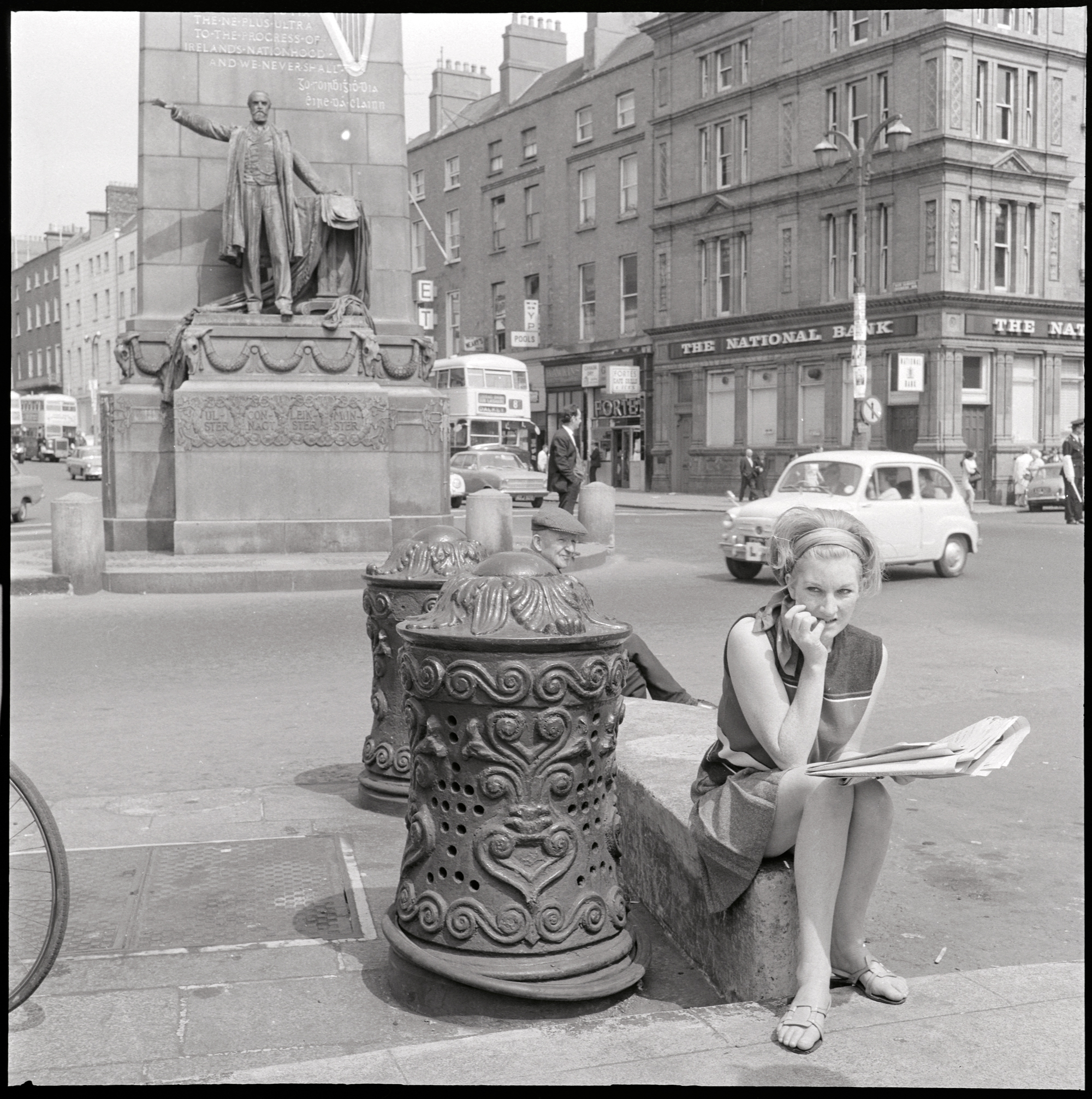 Ireland 1960s. We didn't have a very precise date for this photo, but those election posters on the lamp post outside the National Bank helped us to narrow down the date from some time in 1969 to June or July 1969.