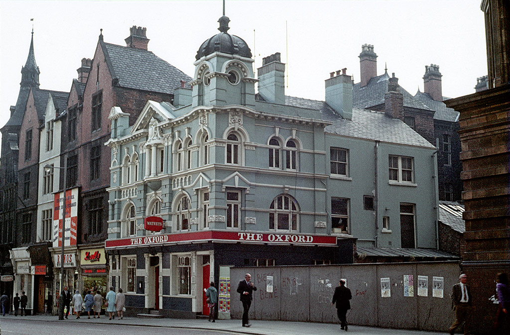 Manchester pubs, The Oxford public house on Oxford Street, around 1973.