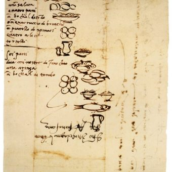 Michelangelo's Brilliantly Drawn 16th-Century Grocery List