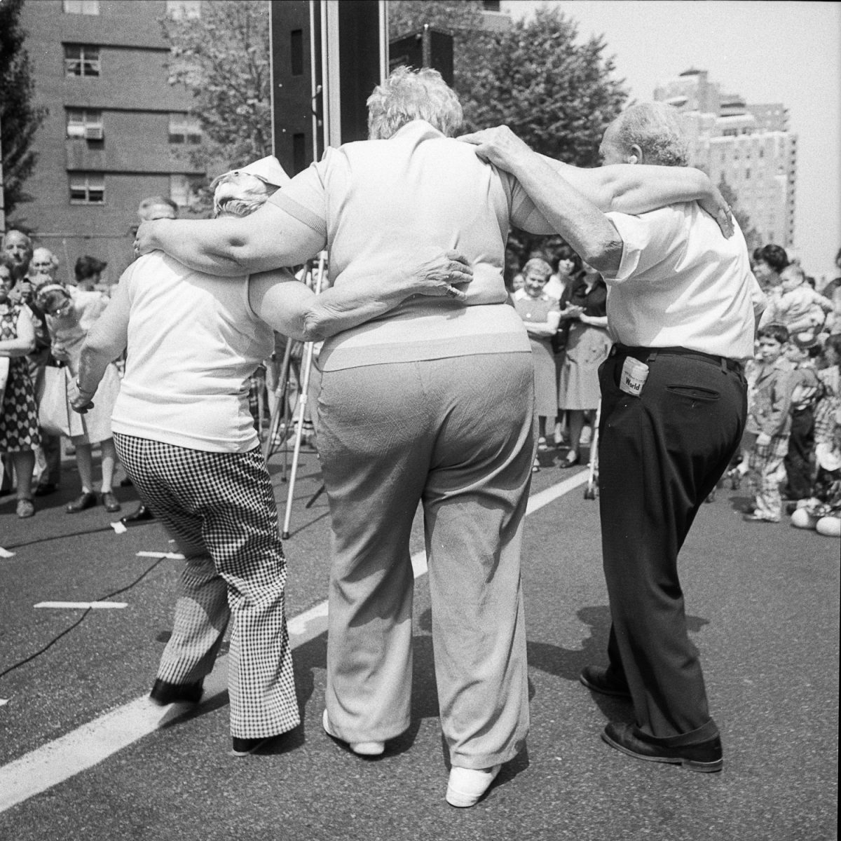 Dancing at The Lower East Side Street Festival - New York, New York - 1978