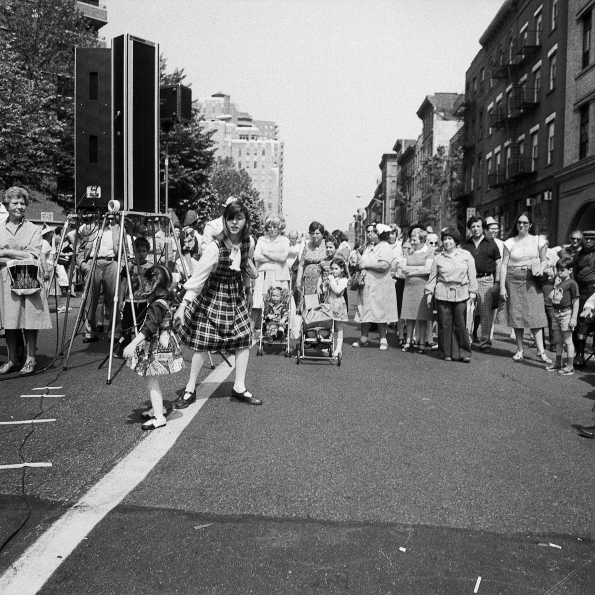 Girl Crosses The Line at Lower East Side Street Festival in NY, NY June 1978