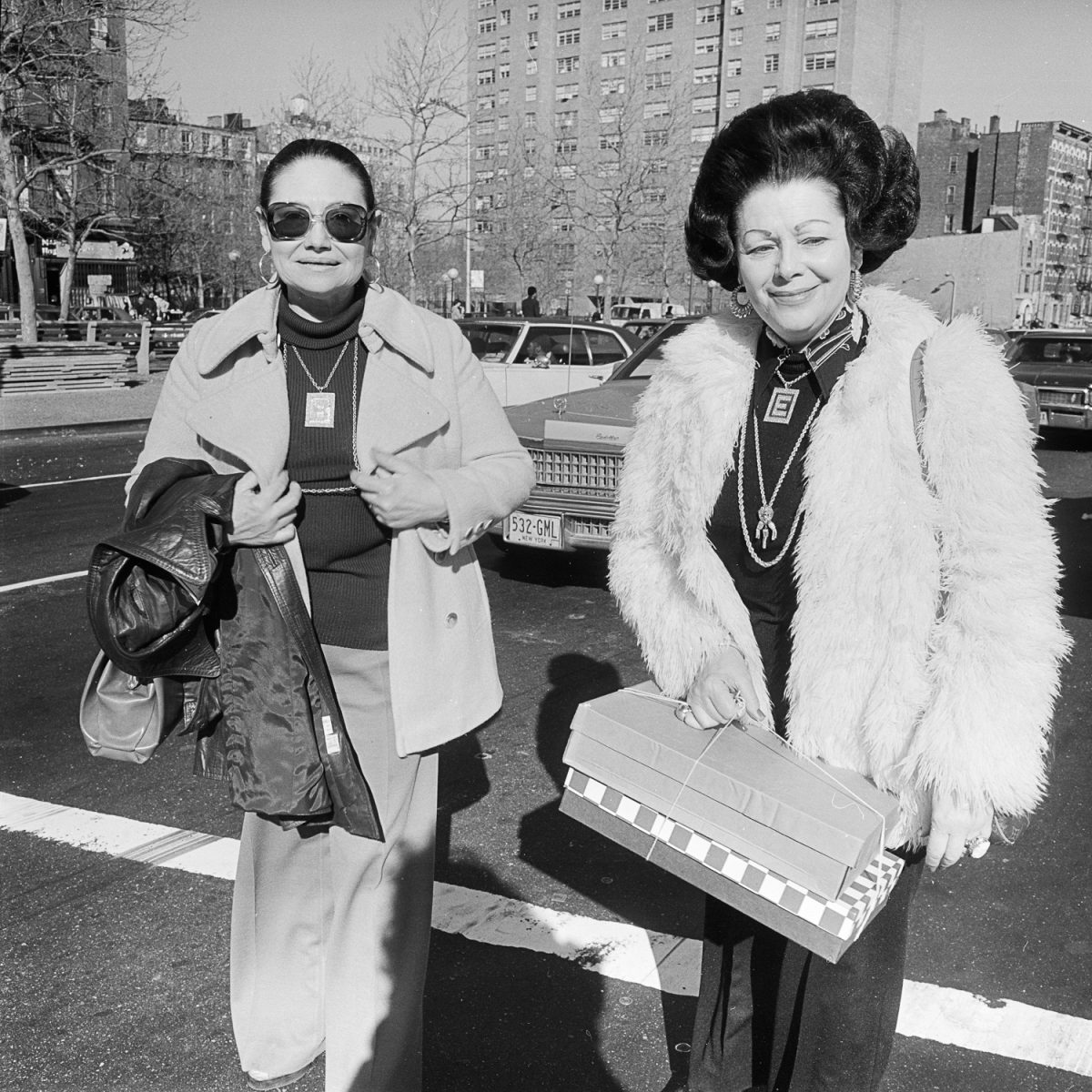 Women With Gift Boxes - New York, NY April 1978