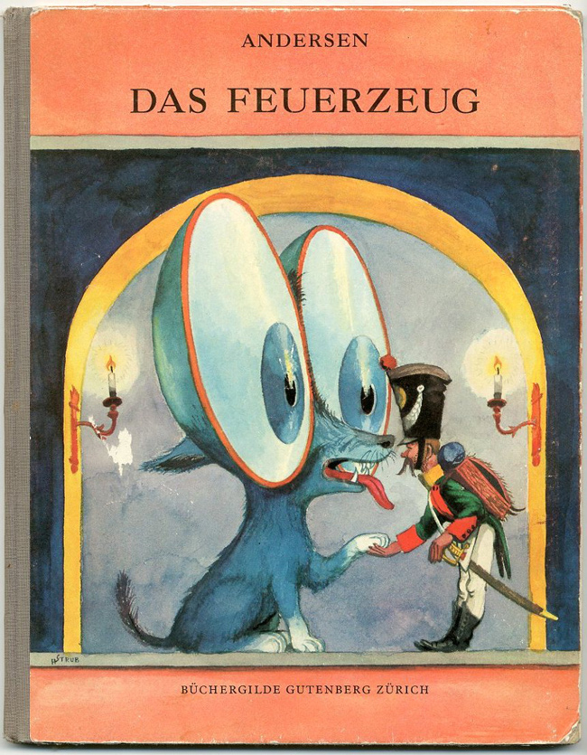 Illustrations by Heinrich Strub for Das Feuerzeug by H. C. Andersen