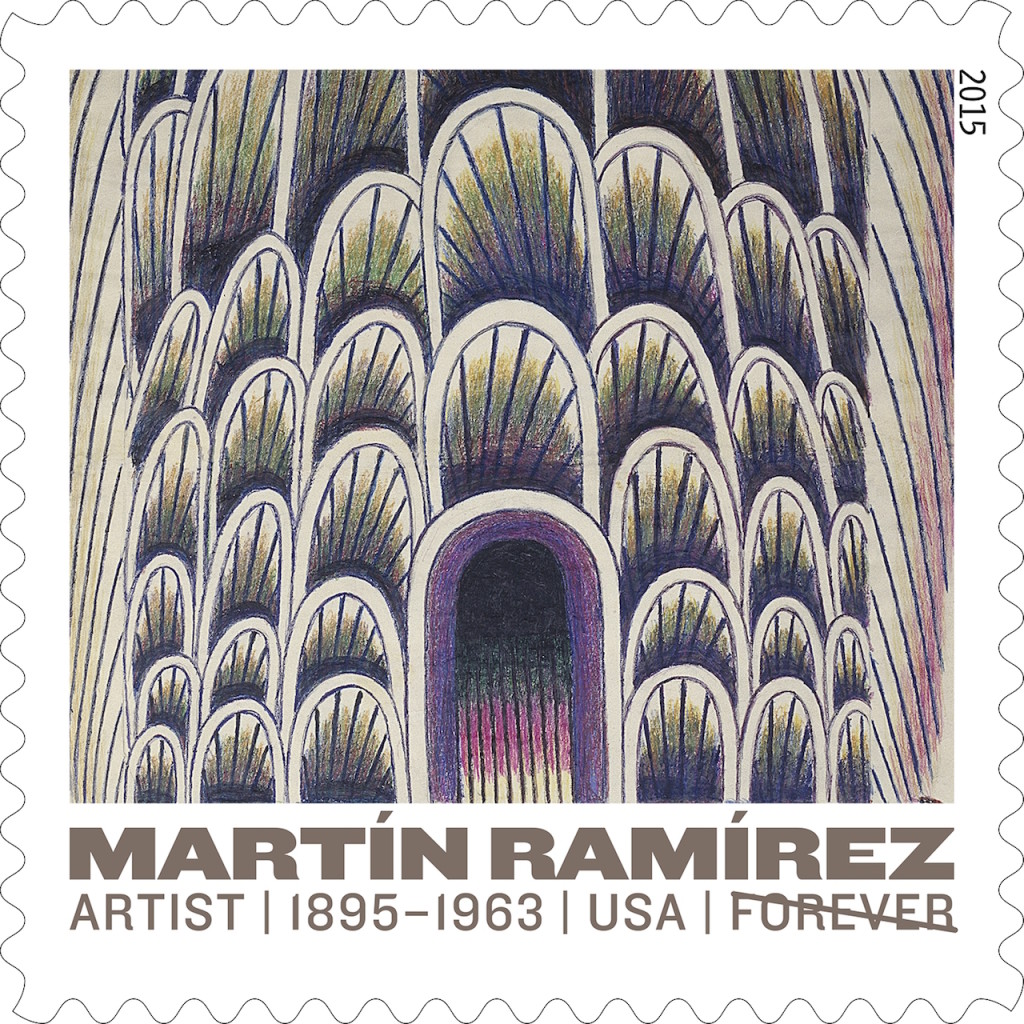 n 2015 Martín Ramírez was celebrated by a United States postage stamp.